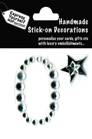 Handmade,stick,on,numbers,-,Mini,Rhinestone,Number,0,stick-on numbers, craft, handmade, Rhinestone , Star