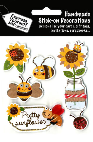 Sunflowers,&,Bees,Craft, Sunflowers, Bees, Flower, Animal, Topper