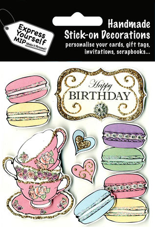 Macaroons,&,Teacups,Craft, Macaroons, Teacups, Tea, Food, Drink, Happy Birthday, Topper