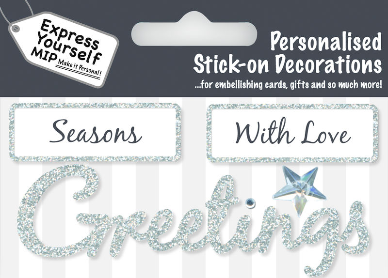 Make It Personal (Caption Topper Christmas) - Season/Greetings (Silver) - product images