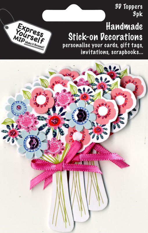 Mini Multi Pack Toppers - Bunch Of Summer Flowers - product images