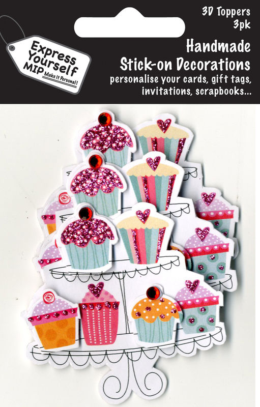 Mini Multi Pack Toppers - Fairy Cakes On Plate - product images