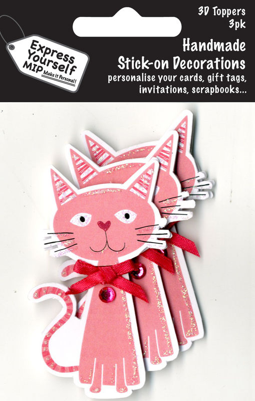 Mini Multi Pack Toppers - Pink Cat - product images