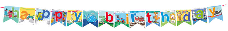 Bunting - Juvenile Boy Birthday (HAPPY BIRTHDAY) - product images
