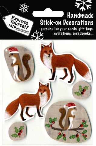 Foxes,&,Squirrels,Craft, Christmas, Christmas decorations, handmade, Toppers, Foxes & Squirrels