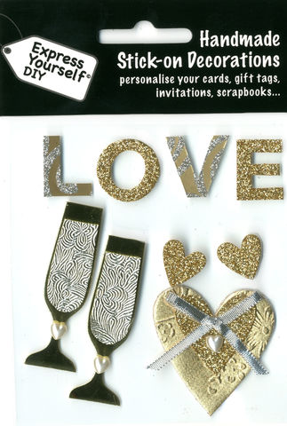 Love,Lettering,&,Hearts,Craft, Love Lettering, Hearts, Gold