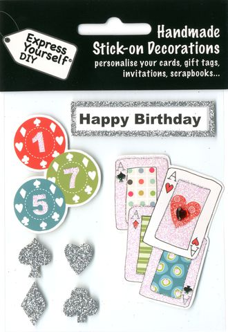 Poker,Items,&,Happy,Birthday,Tag,Craft, Poker Items, Happy Birthday Tag