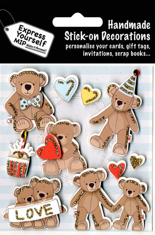 Teddy,Bears,Party,Craft, Teddy, Bears, Party, Love, Cake, Hearts, Cute, Topper