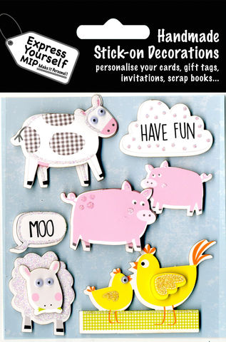 Farm,Animals,Craft, Farm Animals, Sheep, Cow, Pig, Chicken, Nature, Topper