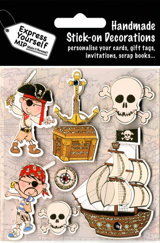 Pirates,Craft, Pirates, Ship, Treasure, Skull, Sword, Boy, Fun, Topper