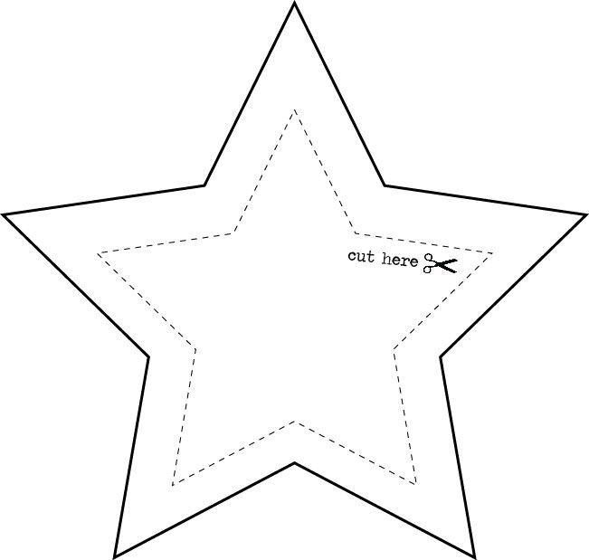 It's just a graphic of Printable Stars Template regarding drawn