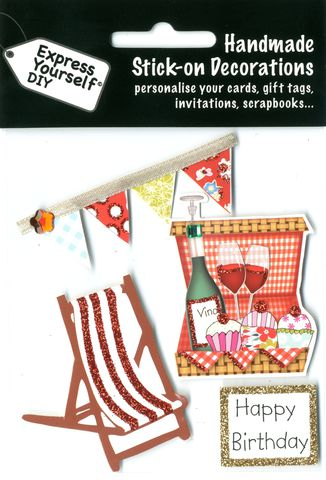 Deckchair,&,Picnic,Basket,Craft, Deckchair, Picnic Basket