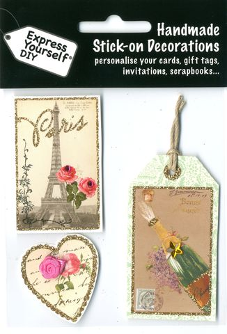 Express Yourself DIY Icons Of Paris Topper Ideal for Card Maki self adhesive