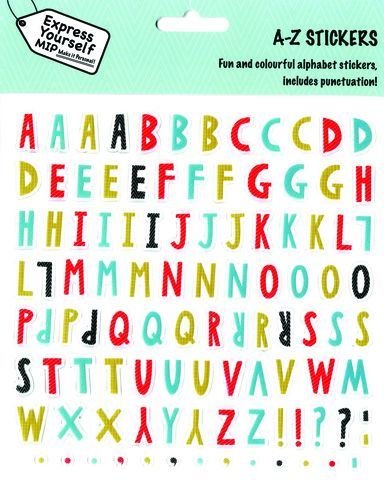 Stickers,-,Alpha,Pack,(,A-Z,Male),Craft, DIY, MIP, Make It Personal, Personalised, Stickers, On Your Birthday, Stick On Decoration, Fun, Icons, Banners, A-Z, Alphabet, Letters, Male, Alpha