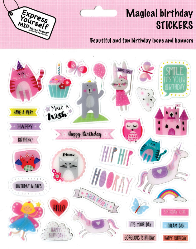 Stickers - Juvenile Girl (Magical Birthday) - product images