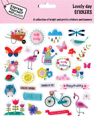 Stickers,-,Lovely,Day,Craft, DIY, MIP, Make It Personal, Personalised, Stickers, On Your Birthday, Stick On Decoration, Fun, Icons, Banners, Animals, Magical, Party, Gardeing, Flowers