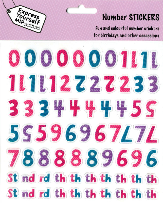 Stickers - Numeric Pack (Female) - product images