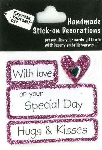 Handmade,(Mini),stick,on,Parts,-,Caption,Tags,&,Heart,stick-on captions, craft, handmade, Heart, Caption Tags