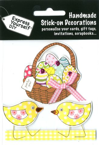 Basket,Of,Eggs,Craft, Easter, Egg, Chicks, Toppers