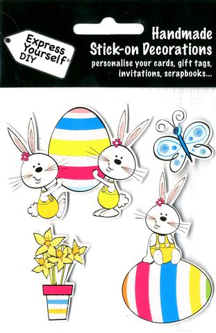 Hopscotch,Bunnies,Craft, Easter, Bunnies, Egg, Toppers