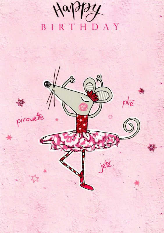 Make It Personal (Birthday Card For Personalisation) - Ballerina Mouse - product images  of