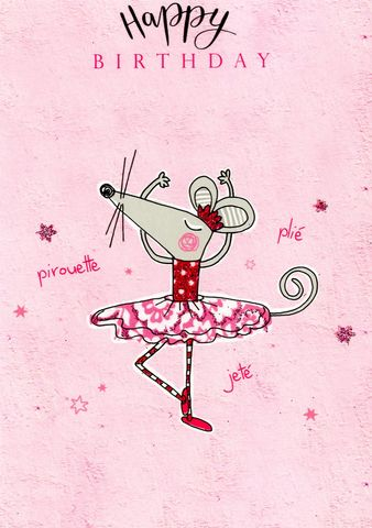 Make,It,Personal,(Birthday,Card,For,Personalisation),-,Ballerina,Mouse,Craft, DIY, MIP, Make It Personal, Personalised, card, Foil ,Flitter, Personalising Cards, Stick On Decoration, You Name it, Sticker, Birthday, Words, Letters, Captions, Blank Card