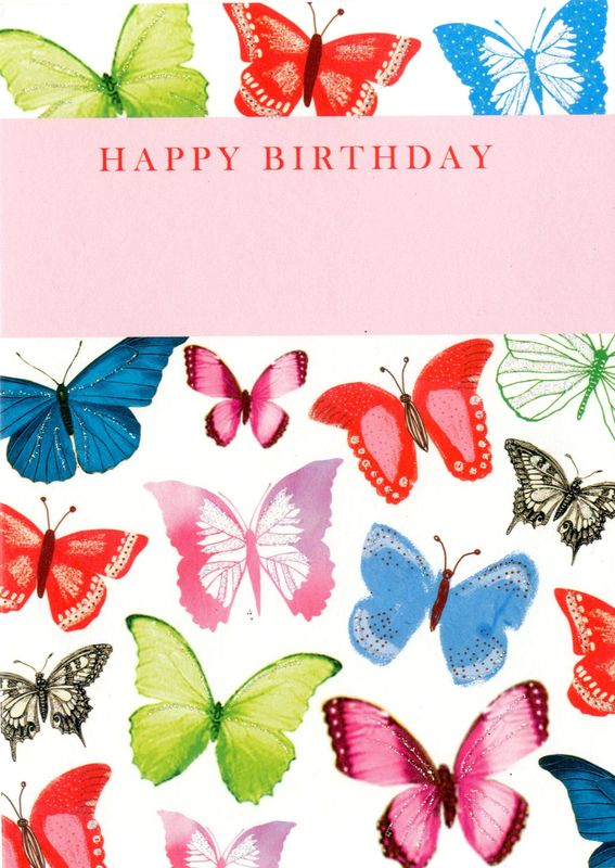 Make It Personal (Birthday Card For Personalisation) - Butterflies - product images  of
