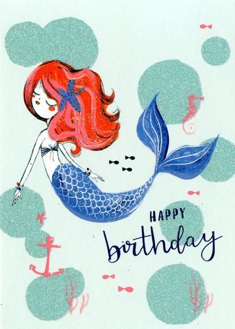 Make,It,Personal,(Birthday,Card,For,Personalisation),-,Mermaid,Craft, DIY, MIP, Make It Personal, Personalised, card, Foil ,Flitter, Personalising Cards, Stick On Decoration, You Name it, Sticker, Birthday, Words, Letters, Captions, Blank Card