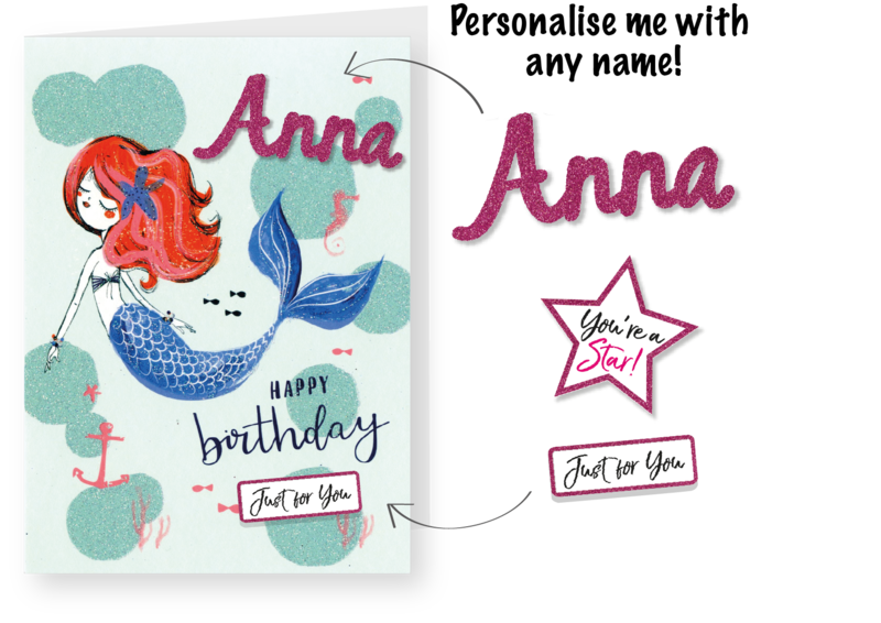 Make It Personal (Birthday Card For Personalisation) - Mermaid - product images  of