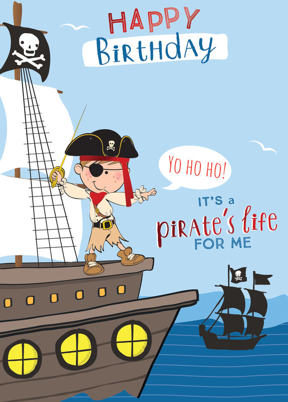 Make It Personal (Birthday Card For Personalisation) - Pirate Ship - product images  of