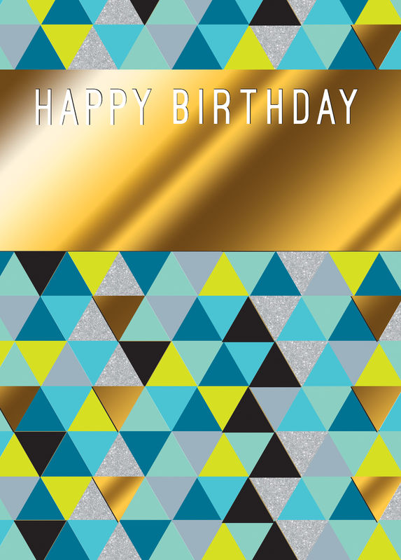 Make It Personal (Birthday Card For Personalisation) - Graphic Triangles - product images  of