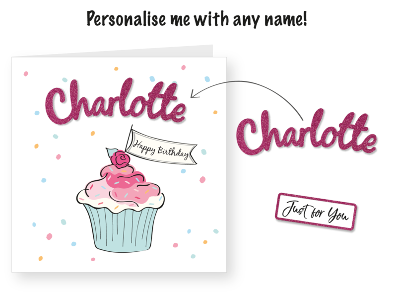 Make It Personal (Blank Card) - Cupcake (Happy Birthday) - product images  of