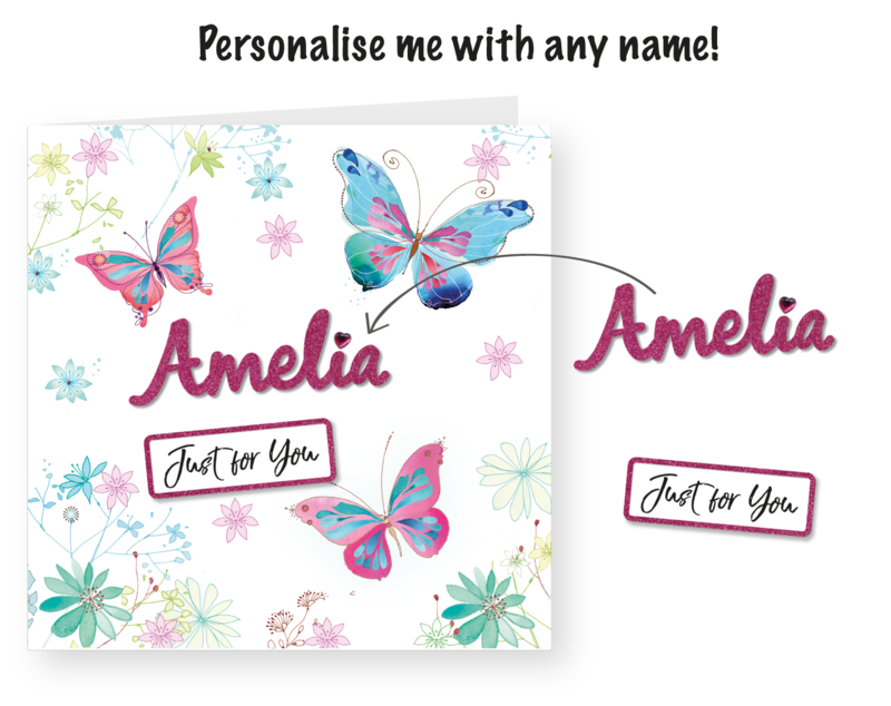 Make It Personal (Blank Card) - Butterflies & Flowers - product images  of
