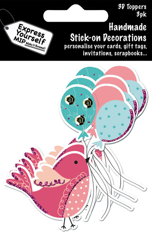 Mini Multi Pack Toppers - Bird With Balloons - product images