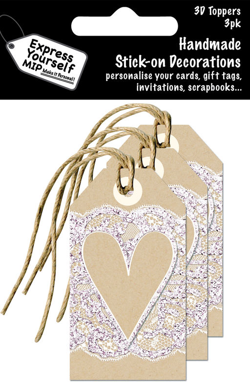 Mini Multi Pack Toppers - Craft Tag With Heart - product images