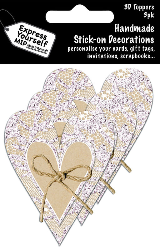 Mini Multi Pack Toppers - Craft Heart In Lace Heart - product images