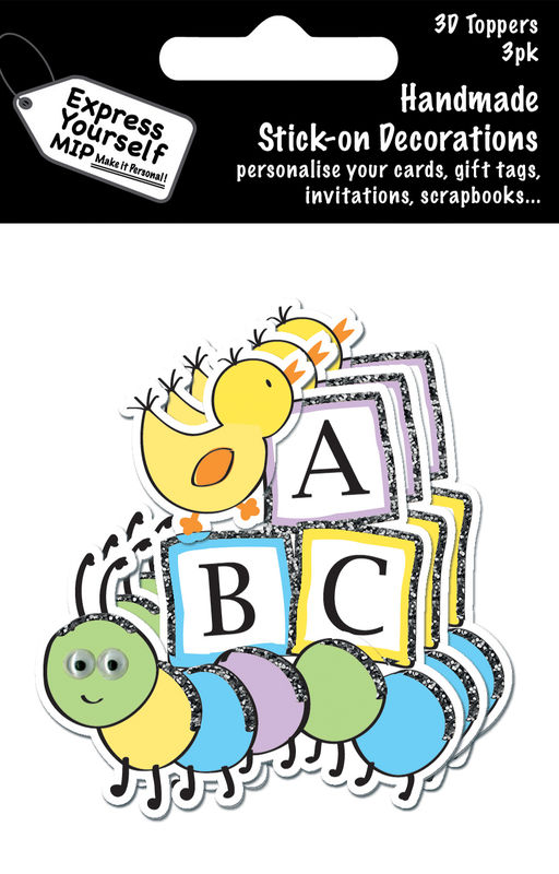 Mini Multi Pack Toppers - ABC Blocks With Chick And Caterpillar - product images