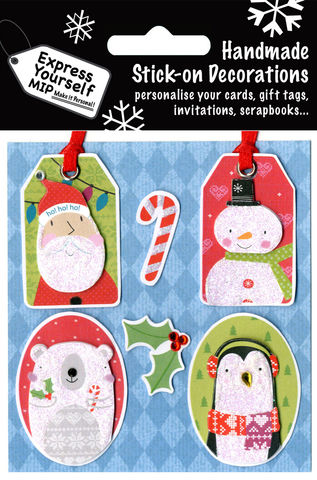 Santa,,Snowman,,Polar,Bear,&,Penguin,Tags,Craft, MIP, DIY, Christmas, Christmas decorations, handmade, Toppers, Personalise, Santa, Snowman, Polar Bear & Penguin Tags