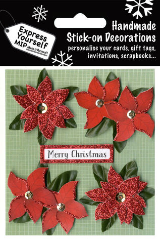 Poinsettia,&,Merry,Christmas,Tag,Craft, MIP, DIY, Christmas, Christmas decorations, handmade, Toppers, Personalise, Poinsettia & Merry Christmas Tag