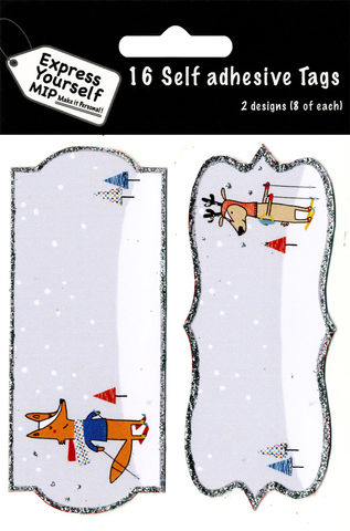 Tags,-,Whimsical,Skiing,Fox,,Reindeer,Craft, MIP, DIY, Christmas, Christmas decorations, handmade, Toppers, Personalise, Whimsical Skiing Fox, Skiing Reindeer, Tag
