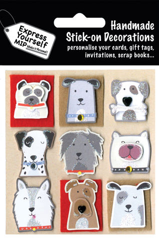 Dogs,Craft, MIP, DIY, Handmade, Toppers, Personalise, Stick On Decoration, Dogs, Animal
