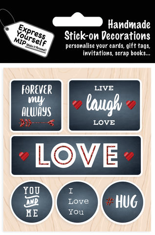 Love,Captions,Craft, MIP, DIY, Handmade, Toppers, Personalise, Stick On Decoration, Love Captions, Hug, Couple