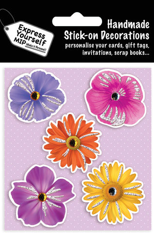 Flowers,(Pansies),Craft, MIP, DIY, Handmade, Toppers, Personalise, Stick On Decoration,  Pansies, Flowers