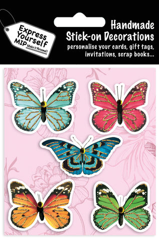 Butterflies,Craft, MIP, DIY, Handmade, Toppers, Personalise, Stick On Decoration, Butterflies