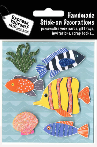 Exotic,Fish,Craft, MIP, DIY, Handmade, Toppers, Personalise, Stick On Decoration, Fish, Sea, Exotic