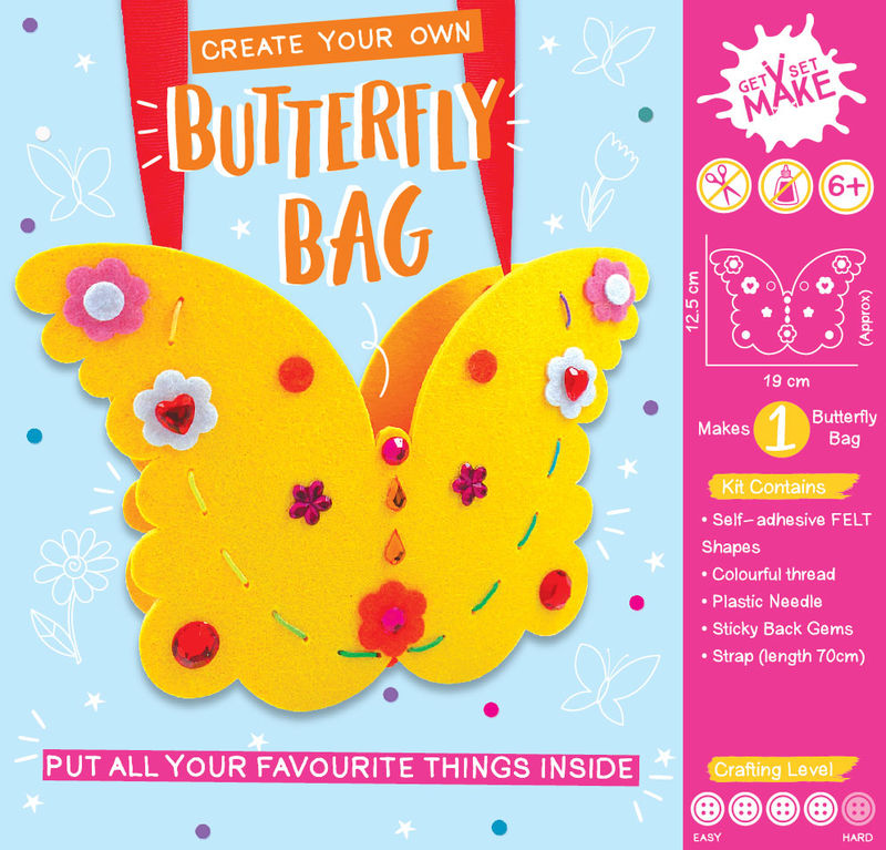 Get Set Make - Butterfly Bag Felt - product images  of
