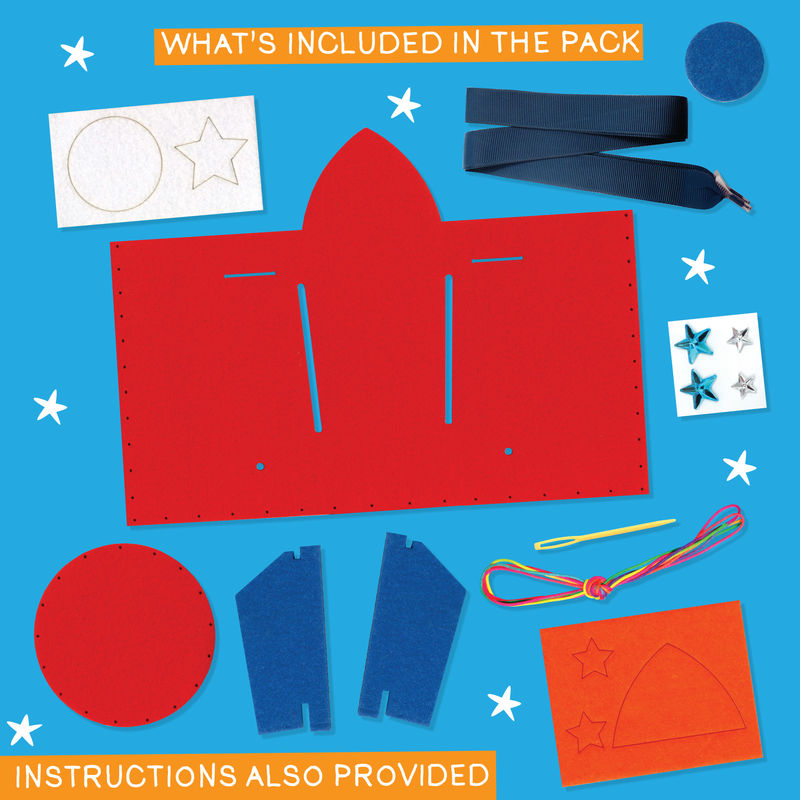 Get Set Make - Rocket Bottle Bag Felt - product images  of