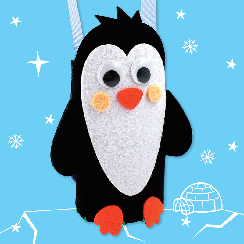 Get Set Make - Penguin Bottle Bag Felt - product images  of