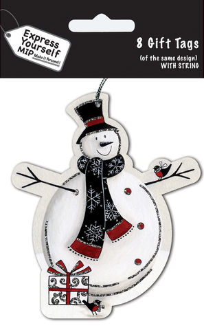 Tags,-,Shaped,Snowman,Craft, MIP, DIY, Christmas, Christmas decorations, handmade, Toppers, Personalise, Tags, Shaped Snowman