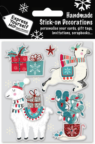 2,Llamas,&,Gifts,Craft, MIP, DIY, Christmas, Christmas decorations, handmade, Toppers, Personalise, 2 Llamas & Gifts